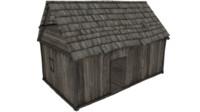 wooden hut 2 lods 3d model