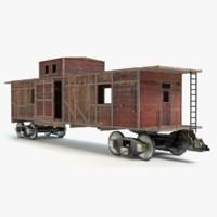 old train car 3d max