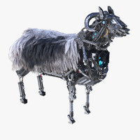3d max robot sheep