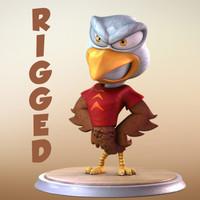 Maya Eagle Cartoon Character