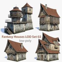 Fantasy Houses LOD Set 02