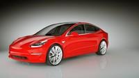 Tesla Model 3 2018 highpoly