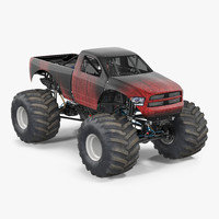 monster truck generic 2 3d max