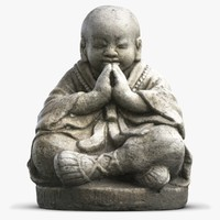 3ds small monk statuette