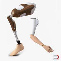 prosthetic leg arm rigged 3d max
