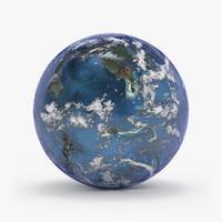 planet habitable 3d max