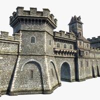 3d model set medieval town