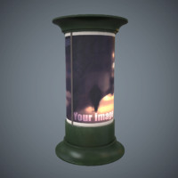 advertising column pbr games 3d model