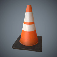 Traffic Cone Game Ready Low-Poly PBR
