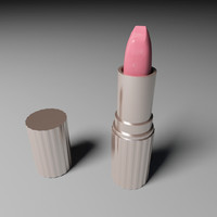 3d lipstick stick lip model
