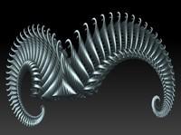 3d model of spiral