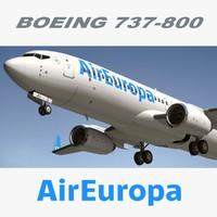 3d model boeing air europa