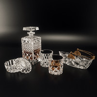 3d model set tableware bohemia
