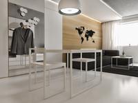 White minimalistic flat interior