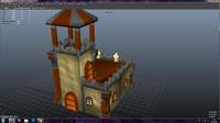 barrack tower defense 3d obj