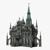 gothic house 3d model