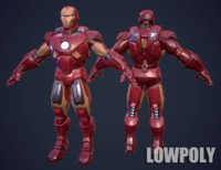 IronMan 3D LowPoly Game Model