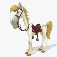 horse bridle saddle 3d 3ds