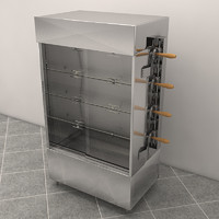 3d model rotisserie bakeries chitken