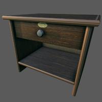 3d model old desk ready