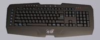 multimedia keyboard 3d obj