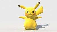 Pikachu Pokemon Go Low poly