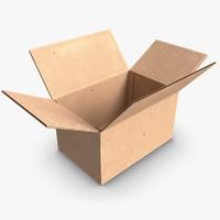 3d paper box model
