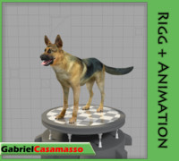 german shepherd 3d model