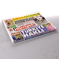 hurriyet newspaper folds 3d model