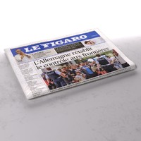 3d le figaro newspaper folds model