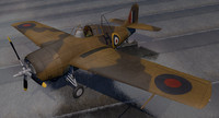 grumman martlet mk-2 rn 3d model