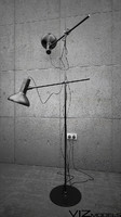 Black floor lamp (2 HEADED)