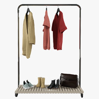 3d model clothing rack