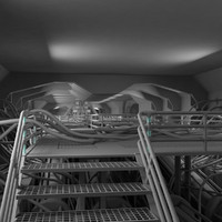 sci-fi reactor facility 3d 3ds