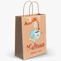 gift paper bag 3d 3ds