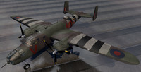 3d model north american mitchell mk-2