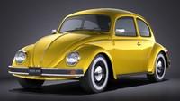 volkswagen beetle 1980 3d max