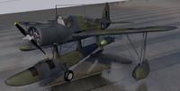 vought kingfisher mk-1 raaf 3d model