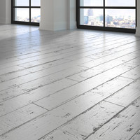3d parquet - white painted model