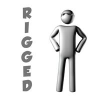 maya simple abstract character rigged
