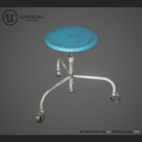 medical chair 3d max