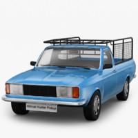 3d model hillman hunter pick-up