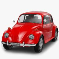volkswagen beetle classic 3d model