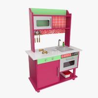toy kitchen 3D models