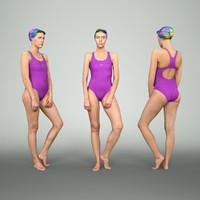 Girl in Swimsuit Posing 2