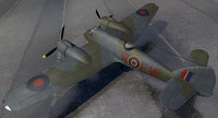 3d model bristol beaufighter mk-10 fighter aircraft
