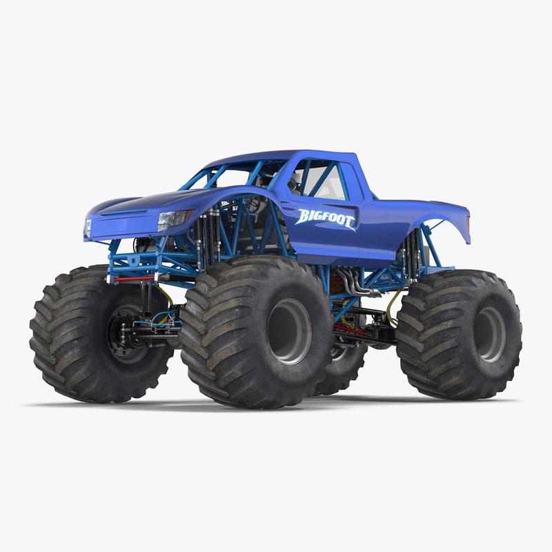 Monster Truck Bigfoot Generic 3d model 000.jpg