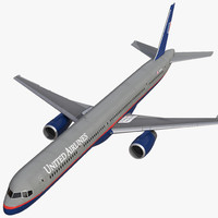 boeing 757-300 united airlines 3d max