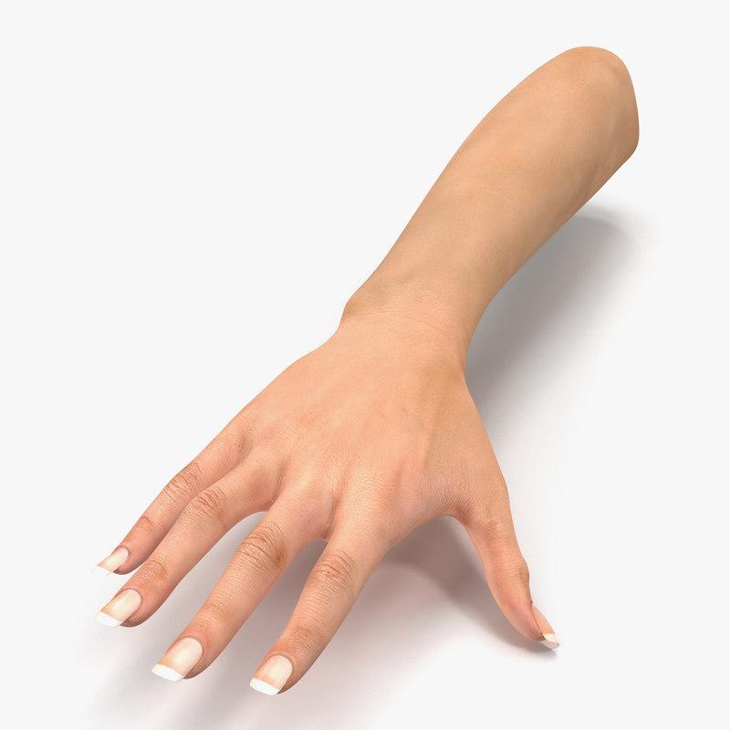 Female Hand vray 3d model 00.jpg