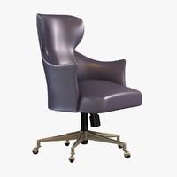 chair custom office leather 3d fbx